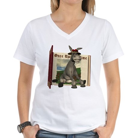 Daisy Donkey Women's V-Neck T-Shirt