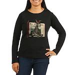 Daisy Donkey Women's Long Sleeve Dark T-Shirt