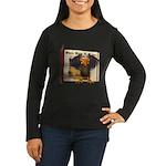 Vinnie Vulture Women's Long Sleeve Dark T-Shirt