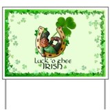 Irish Luck Clover Yard Sign