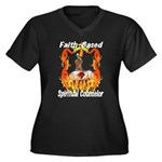 Faith Based Counselor Women's Plus Size V-Neck Dar