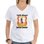 Faith Based Counselor Women's V-Neck T-Shirt