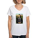 Mona's Black Cocker Spaniel Women's V-Neck T-Shirt