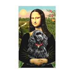 Mona's Black Cocker Spaniel Sticker (Rectangle)