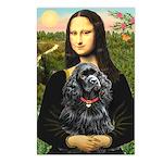 Mona's Black Cocker Spaniel Postcards (Package of