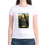 Mona's Black Cocker Spaniel Jr. Ringer T-Shirt
