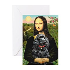 Mona's Black Cocker Spaniel Greeting Cards (Pk of