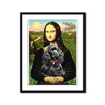 Mona's Black Cocker Spaniel Framed Panel Print