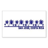 San Jose, Costa Rica Rectangle Decal