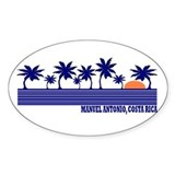 Manuel Antonio, Costa Rica Oval Decal