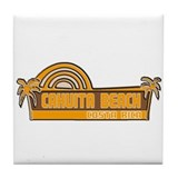 Cahuita Beach, Costa Rica Tile Coaster
