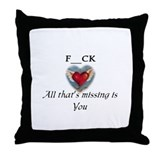 Raunchy Top Shop Throw Pillow