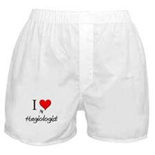 I Love My Hagiologist Boxer Shorts