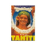Vintage Tahiti Travel Poster Rectangle Magnet