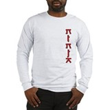 Ninja Text Design Long Sleeve T-Shirt