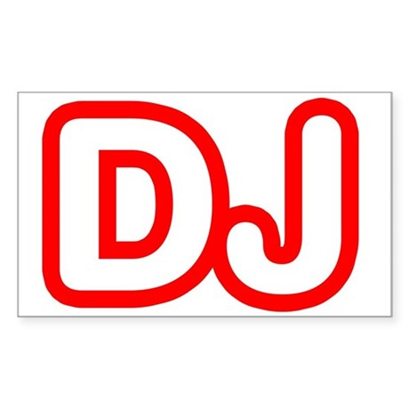 DJ Rectangle Sticker