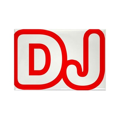 DJ Rectangle Magnet (100 pack)