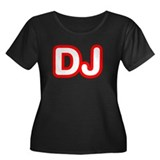 DJ Women's Plus Size Scoop Neck Dark T-Shirt