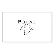 Believe in Peace Rectangle Decal