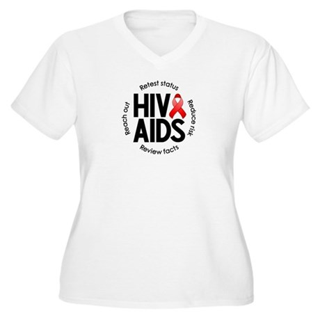 HIV/AIDS Women's Plus Size V-Neck T-Shirt