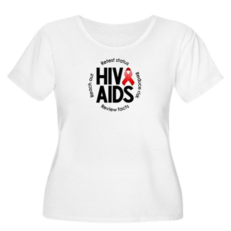HIV/AIDS Women's Plus Size Scoop Neck T-Shirt