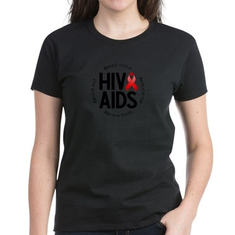 HIV/AIDS Women's Dark T-Shirt