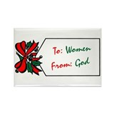 God's Gift To Women Rectangle Magnet