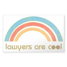 Lawyers Are Cool Rectangle Decal