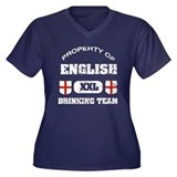 English drinking team Women's Plus Size V-Neck Dar
