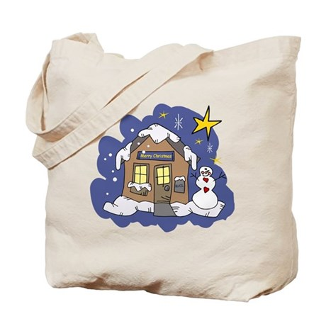 Christmas Cottage Tote Bag