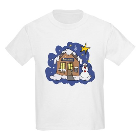 Christmas Cottage Kids Light T-Shirt