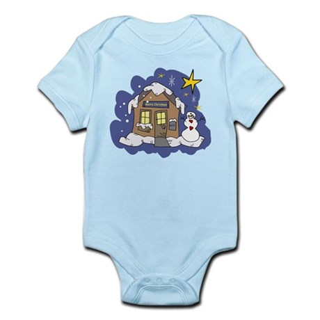 Christmas Cottage Infant Bodysuit
