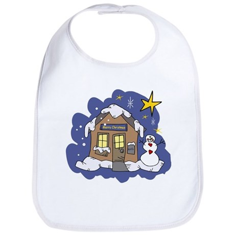 Christmas Cottage Bib