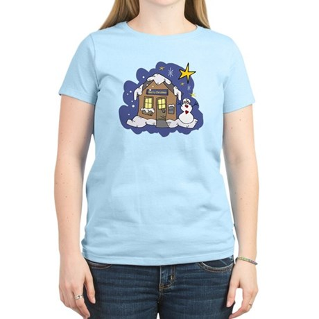 Christmas Cottage Women's Light T-Shirt