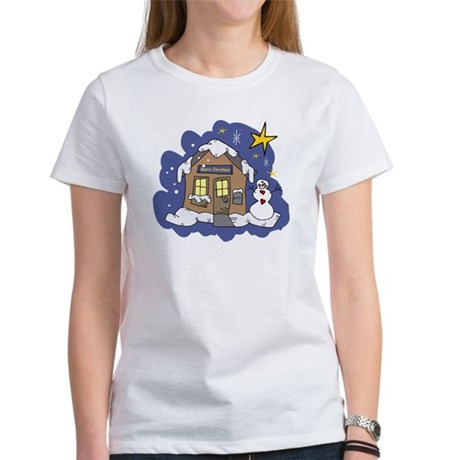 Christmas Cottage Women's T-Shirt