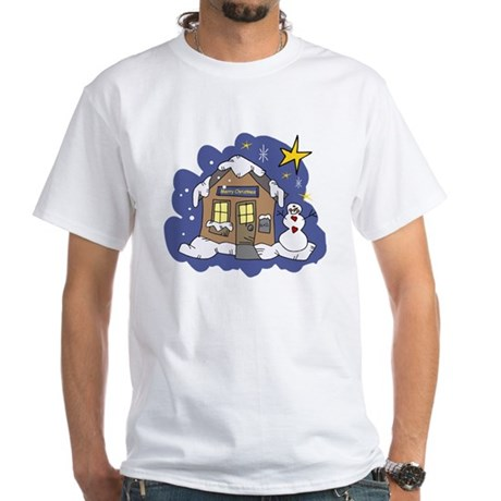 Christmas Cottage White T-Shirt
