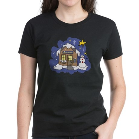 Christmas Cottage Women's Dark T-Shirt
