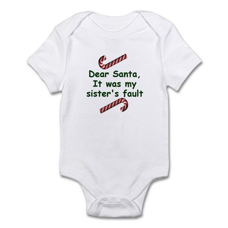 Santa sister Infant Bodysuit
