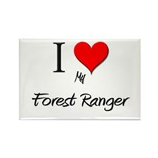 I Love My Forest Ranger Rectangle Magnet