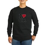 Costa Rica Heart Long Sleeve Dark T-Shirt