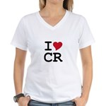 Costa Rica Heart Women's V-Neck T-Shirt