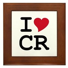 Costa Rica Heart Framed Tile