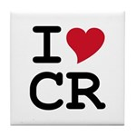 Costa Rica Heart Tile Coaster