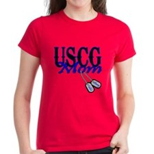 USCG Mom Dog Tag Tee