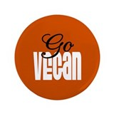 "Go Vegan 3.5"" Button"
