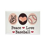Peace Love Baseball Rectangle Magnet (100 pack)