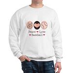 Peace Love Baseball Sweatshirt