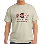 Peace Love Baseball Light T-Shirt