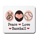 Peace Love Baseball Mousepad