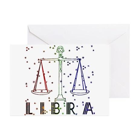 LIBRA SKIES Greeting Cards (Pk of 10)
